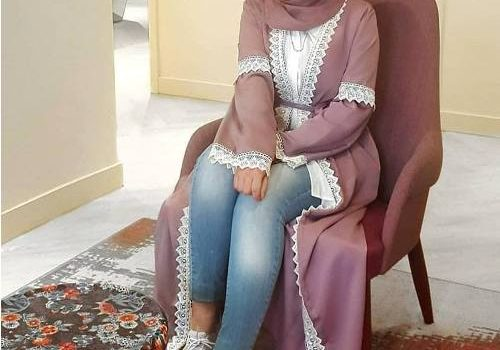 Girly and cute open Abaya