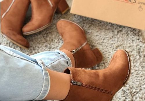 Suede ankle boots latest trend
