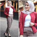 Checked pants hijab style
