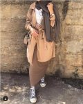 Hijab outfits in neutrals