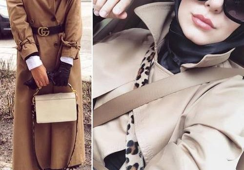 Trench coats and maxi jackets hijab style
