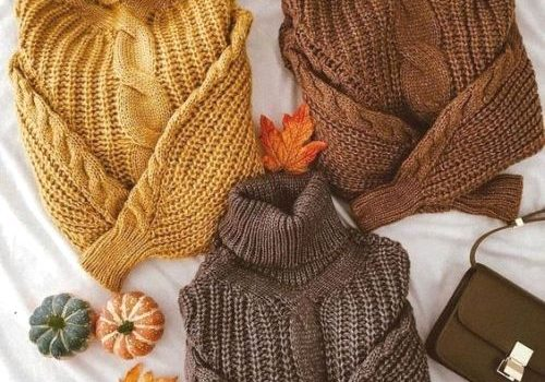 Winter basics in warm colors