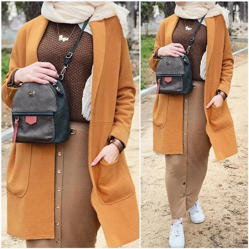 Winter Hijab Fashion In Neutrals Just Trendy Girls