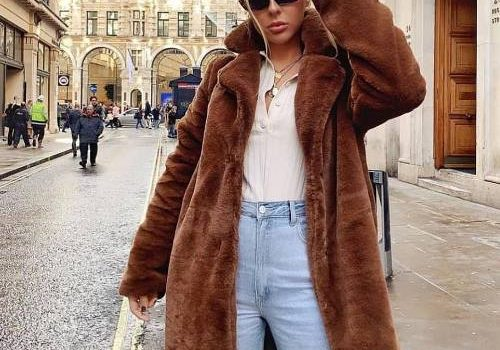 Faux fur teddy coat styling ideas