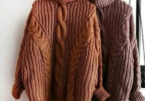 Warm sweaters in knits