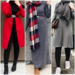 Combination winter hijab styles