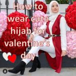 How to wear cute hijab for Valentine's Day