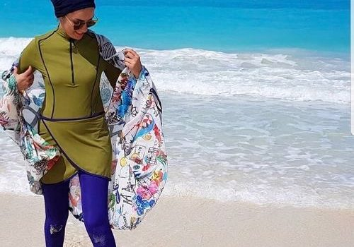 Burkini swimming suits in cute designs