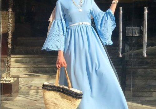Cheerful hijab outfits for Eid