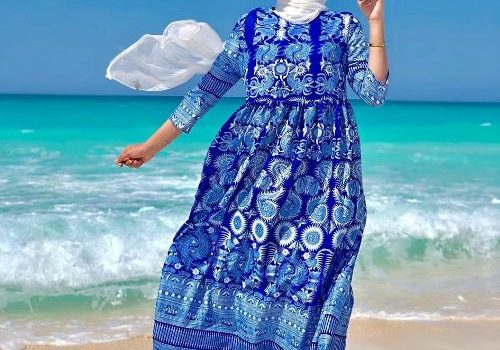 Spring hijab fashion ideas for the Beach