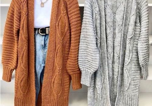 Winter cardigans and chunky knits