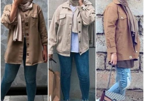 Inspiration easy hijab autumn outfit ideas