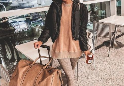 Traveling style in winter cozy coats