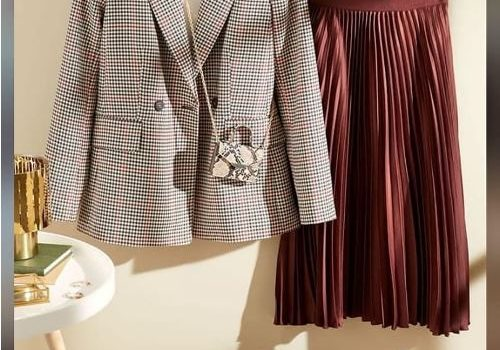 Classic checked patterns for formal looks
