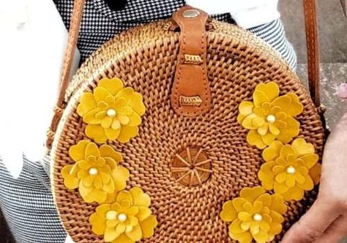 Straw boho woven summer bags