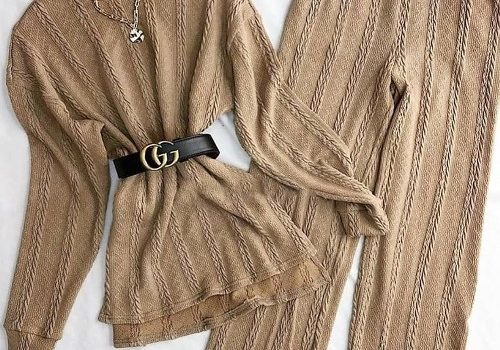 Soft yarn outfits in various styles