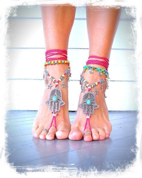 Boho Barefoot Jewelry \u2022 Barefoot Sandals \u2022 Foot Jewelry \u2022 Footless Sandal \u2022 Beach Sandals \u2022 Boho Jewelry \u2022 Tribal Jewelry
