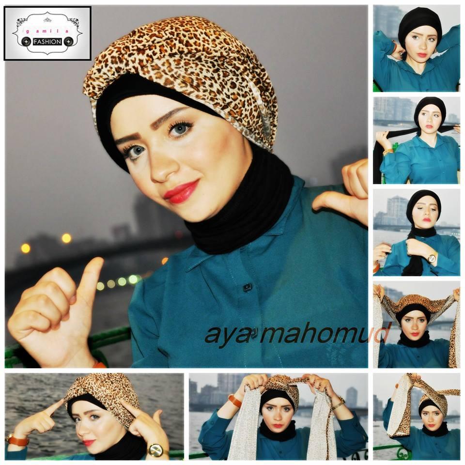80 Gambar Lengkap Tutorial Hijab Turban Pesta Simple Sayang